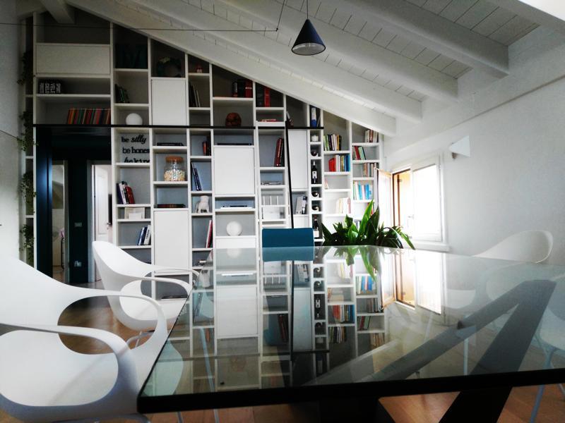 Librerie falegnameria curioni for Arredo bagno lodigiano