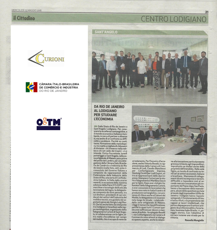 Il Cittadino 25 maggio CAMARA ITALO BRASILEIRA
