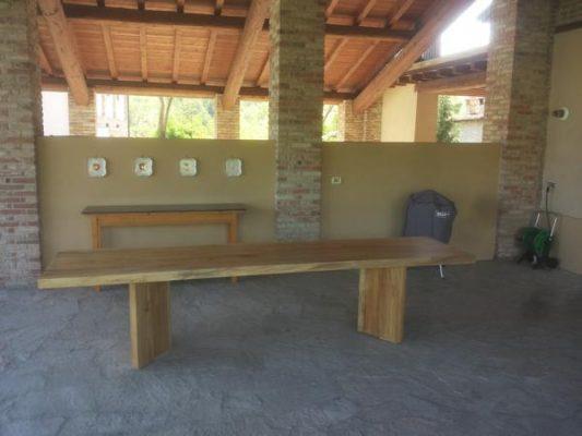 Tavoli In Legno Massello Rustici : Tavolo rustico massello cedro legno 18 falegnameria curioni